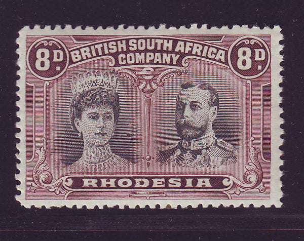 RHODESIA 1910 8d DOUBLE HEAD FINE UNMOUNTED MINT