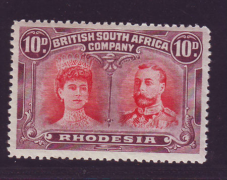 RHODESIA 1910 1/- DOUBLE HEAD FINE MINT SG 151
