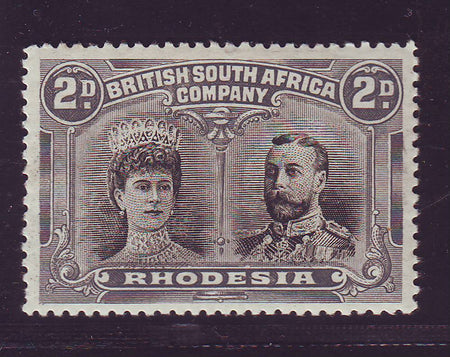 RHODESIA 1910 6d DOUBLE HEAD FINE UNMOUNTED MINT