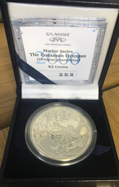 2000   R2 SILVER ONE OUNCE 'OCTOPUS'  PROOF