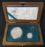 2001 COMBO PRESTIGE PR0OF SILVER SET  - DOLPHINS