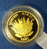 2001 PROTEA ONE TENTH OUNCE GOLD - TOURISM