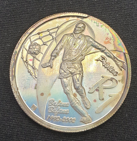 2010 FIFA SOCCER WORLD CUP SILVER TWO RAND