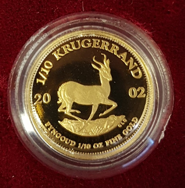 2002  1/10th OUNCE PROOF KRUGERRAND
