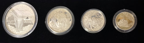 2002  PR0OF SILVER SET IN VELVET CASE -  ELEPHANT