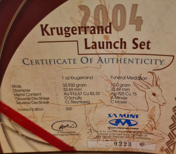 2004 KRUGERRAND LAUNCH SET - ONLY 300