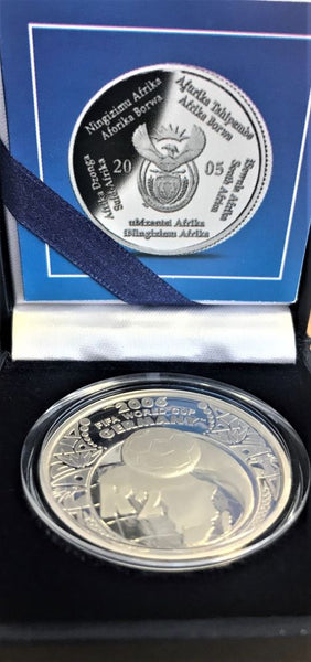 2006 R2 SILVER ONE OUNCE 'SOCCER WORLD CUP'  PROOF