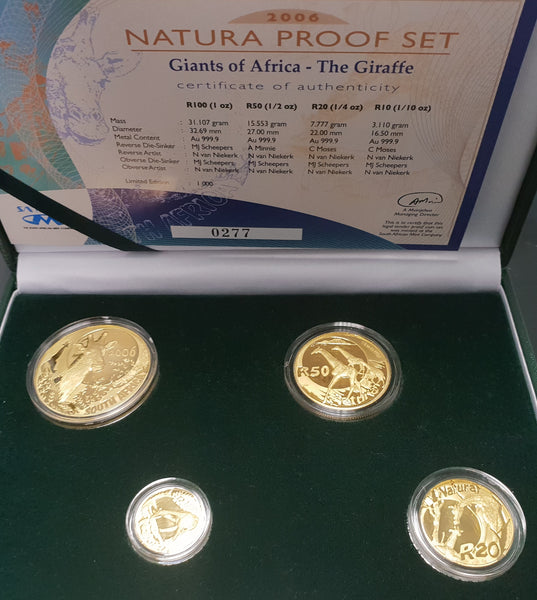 2006 NATURA GIRAFFE PROOF SET