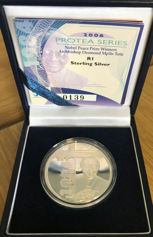 2006  R1 SILVER PROTEA 'ARCHBISHOP TUTU'  PROOF