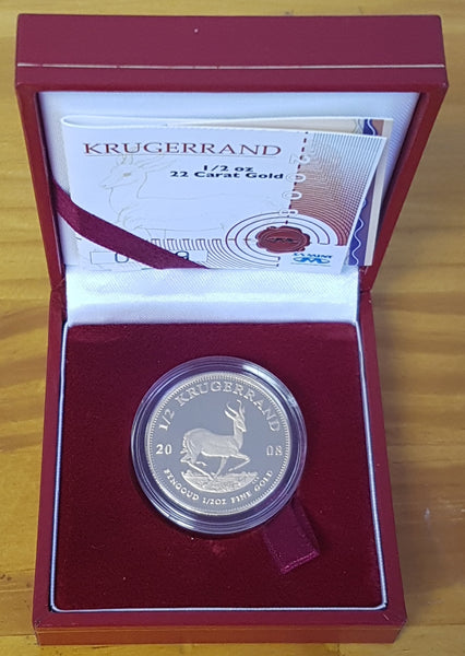 2008 1/2 OUNCE PROOF KRUGERRAND