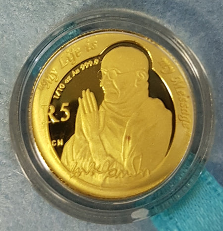 2008 NATURA  ONE TENTH OUNCE GOLD - ELEPHANT