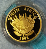 2008 PROTEA ONE TENTH OUNCE GOLD - GANDHI