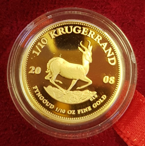 2008 ONE TENTH OUNCE GOLD KRUGERRAND