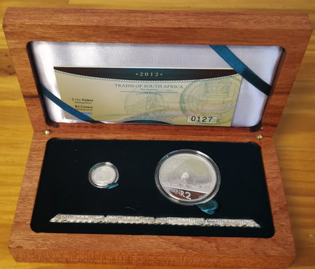 1999 R1 SILVER PROTEA 'GOLD MINING'  PROOF