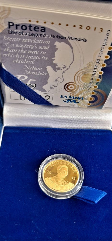 2014 10 YEARS DEMOCRACY PROOF ONE  OUNCE GOLD