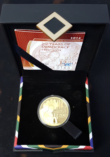 2014 10 YEARS OF DEMOCRACY  ONE OUNCE PROOF R200