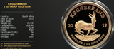 RSA 2019 PROOF ONE OUNCE KRUGERRAND ONLY 1000 MINTED