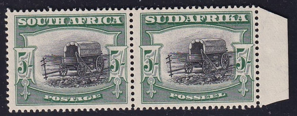 SA 1927 5/- PERF DOWN  LONDON PRINTING SUPERB MINT- SACC 38a CV R12000