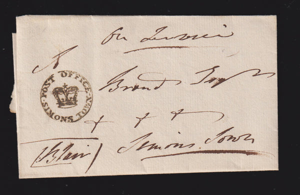 "CAPE OF GOOD HOPE ""POST OFFICE SIMONSTOWN"" CROWN IN CIRCLE -SUPERB!"