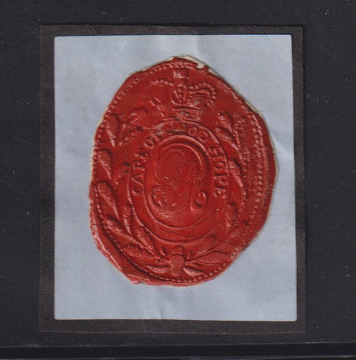 CAPE OF GOOD HOPE WAX SEAL USED BY THE BRITISH FROM 1806