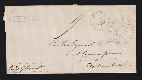 CAPE OF GOOD HOPE 1828 GEORGE TO CAPETOWN COVER