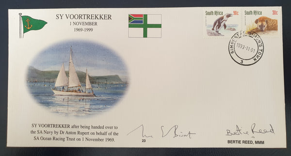 NAVY FDC #23 SIGNED BERTIE REED FAMOUS YACHTSMAN