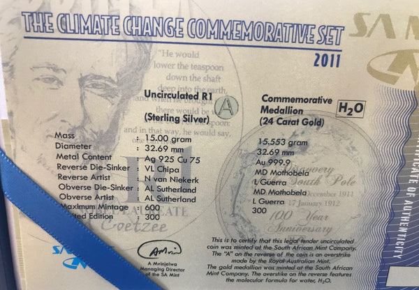 2011 CLIMATE CHANGE COMMEMORATIVE  SET