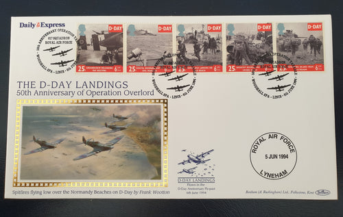 GREAT BRITAIN 1994 D-DAY LANDINGS SILK FDC