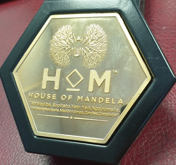 2013 HOUSE OF  MANDELA  ONE TENTH OUNCE GOLD MEDALLION