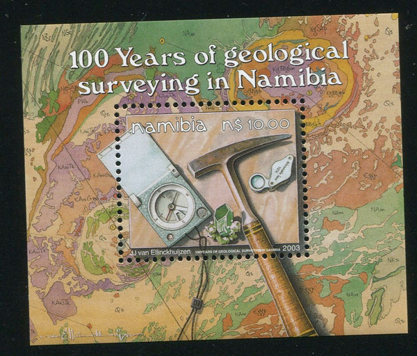 2003 11 September, 100th Anniversary of Geological Surveying in Namibia - Miniature Sheet