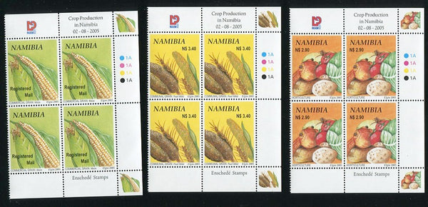 2005 2 August. Crop Production in Namibia. Control Blocks of four