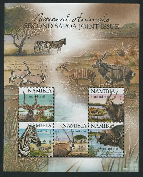 2007 9 October. Second SAPOA, Joint Issue. printed in Silver - Miniature Sheet