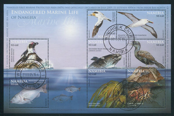2011 16 May. Endangered Marine Life of Namibia - Miniature Sheet
