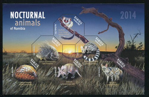 2014 14 March. Nocturnal Animals - Miniature Sheet