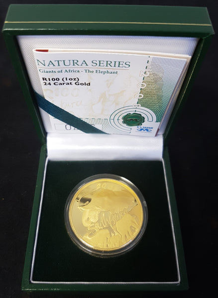 2008 NATURA ELEPHANT ONE OUNCE PROOF COIN