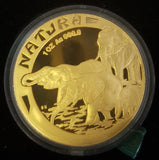 1996 NATURA ELEPHANT ONE OUNCE PROOF COIN