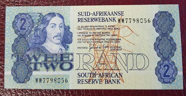 TWO RAND 1983  3rd ISSUE  REPLACEMENT- GPC de KOCK
