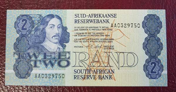 "TWO RAND 1990  1st ISSUE ""AA"" - CL STALS"