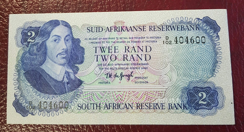 TWO RAND 1974  2nd ISSUE - TW de JONGH