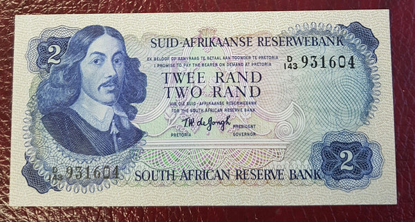 TWO RAND 1976 3rd ISSUE  - TW de JONGH