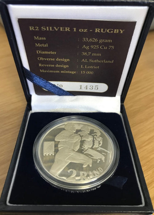 1995  R2 SILVER ONE OUNCE 'RUGBY'  PROOF