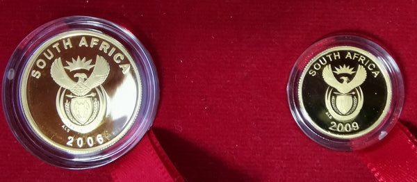 2009  PROOF R2 & R1 FIFA -SOCCER MASCOT SET   QUARTER OUNCE & TENTH OUNCE