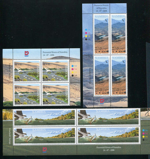 2006 24 July. Perennial Rivers of Namibia - Set of 3