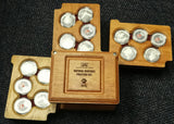 2006 NATURAL HERITAGE SET OF 15 SILVER MEDALLIONS - SUPERB!