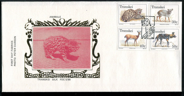 Transkei Silk 88.5 Animals Red