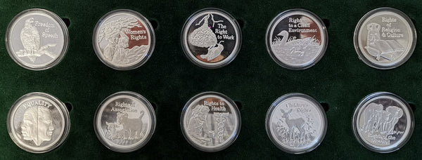 ZAMBIA FREEDOM SERIES SILVER & BRONZE SETS - SUPERB!