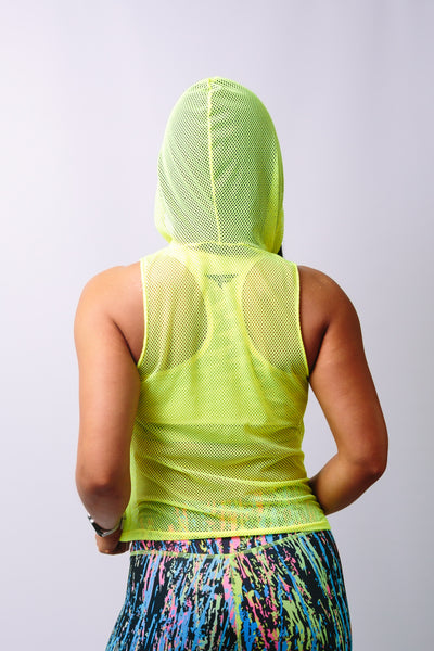 'Jemima Mesh' Hoodie Top - tops - Armony Fit  - Luxury Activewear - Sportswear - Yoga Gear