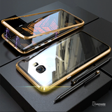 Electronic Auto-Fit Magnetic Glass Case for Galaxy C9 Pro