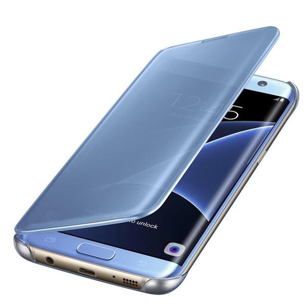 super popular a149d 54c0d Galaxy S7 Edge Original Clear View Smart Flip Case