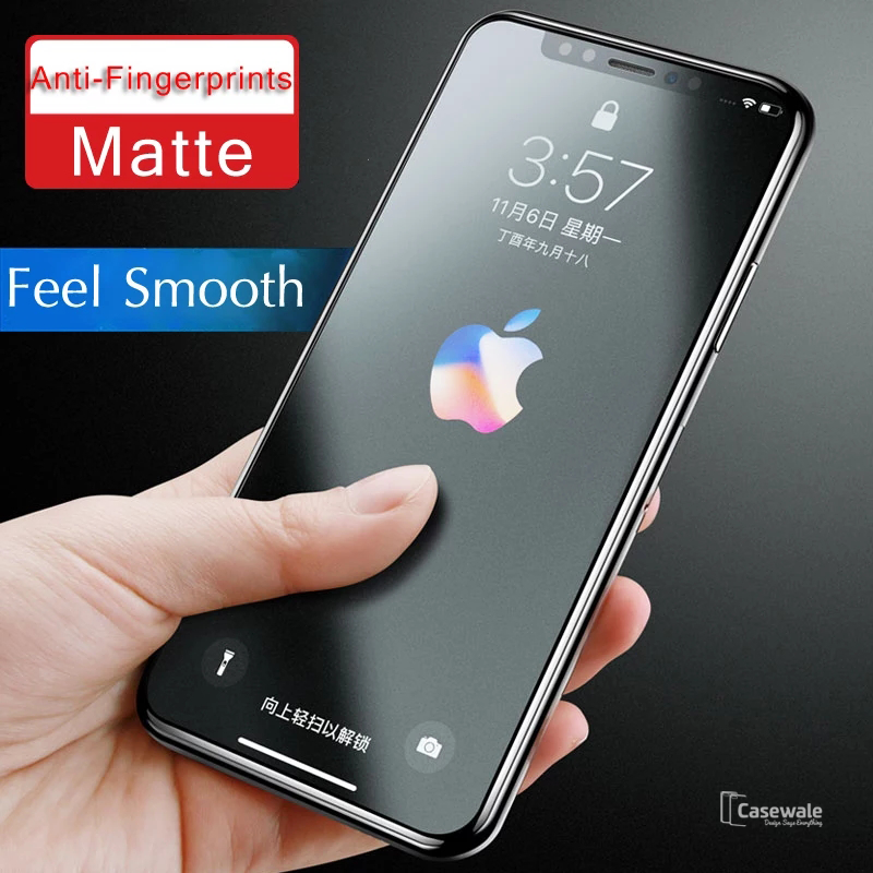 Matte Tempered Glass Protector for iPhone XS